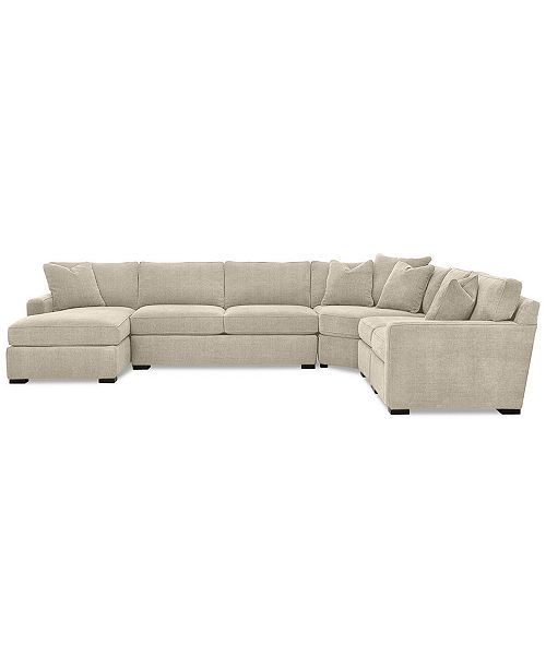 Radley 5 Piece Fabric Chaise Sectional Sofa Created For
