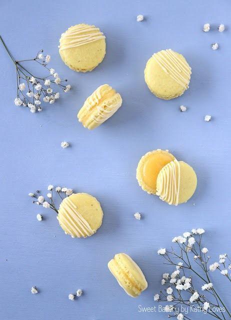 Macarons mit Lemon Curd - Sweet Bakery by Kathy Loves