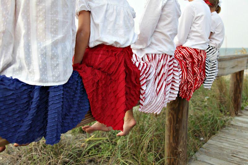no big dill: Coastal Twirly Skirt Tutorial