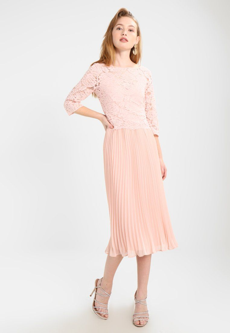 b2856ff0851e ELLIE 3/4 SLEEVE PLEATED MIDI DRESS - Sukienka koktajlowa - pale ...