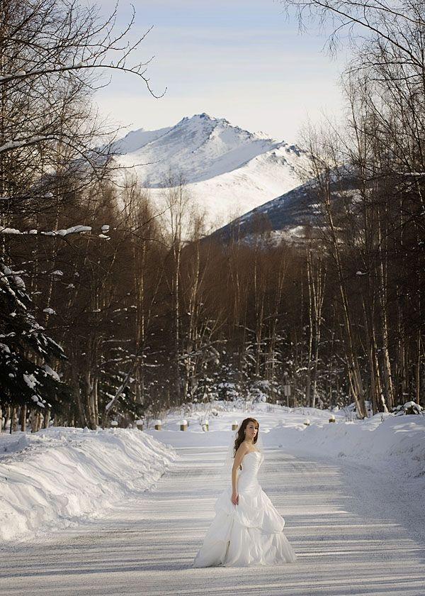 October First Snowfallin The Matanuska Valley In Wasilla Alaska