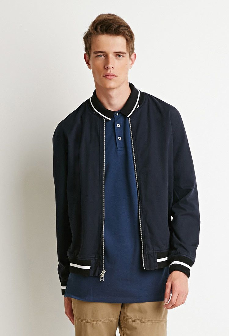 Zip Front Varsity Jacket Jackets Coats 2000141910 Forever