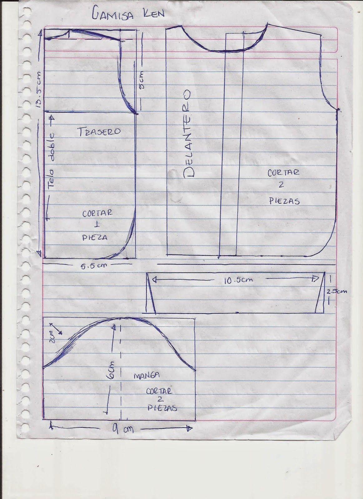 CREANDO IDEAS por EDITH5866: MOLDES O PATRONES PARA ROPITA DE ...