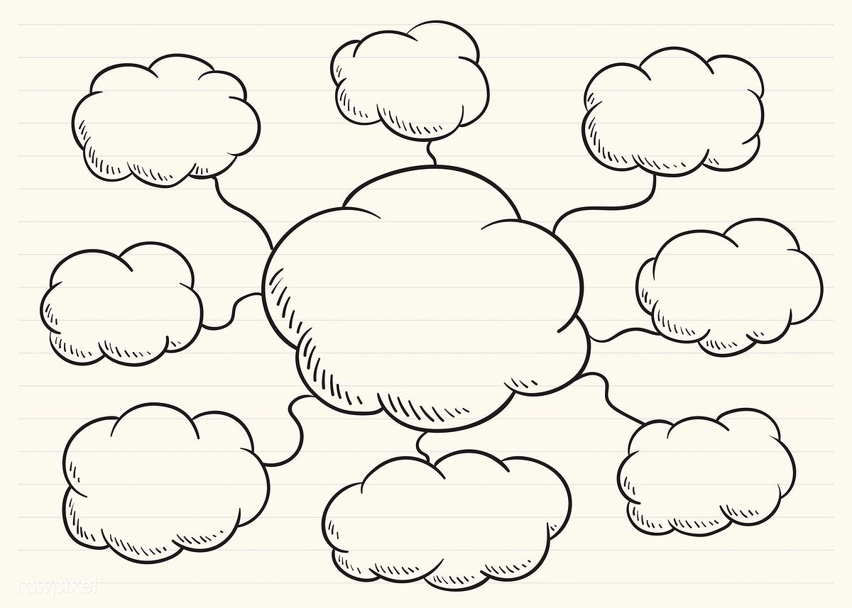 Mind map scribbled on a notepad free image by rawpixel