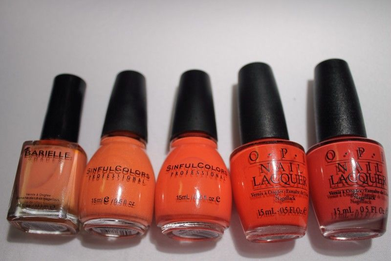 Barielle Blossom Sinful Colors Hazard Boogie Nights Opi Cajun Shrimp
