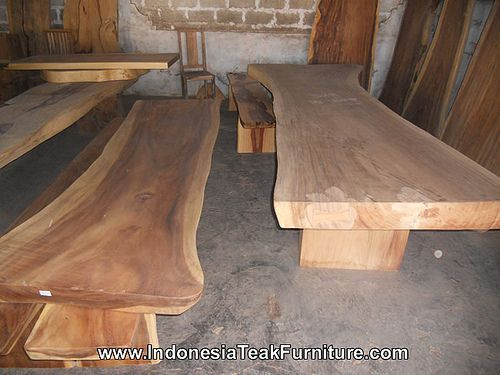 Large Natural Curve Suar Wood Table Slabs From Bali Wood Slab Table Dining Table Living Room Decor Furniture