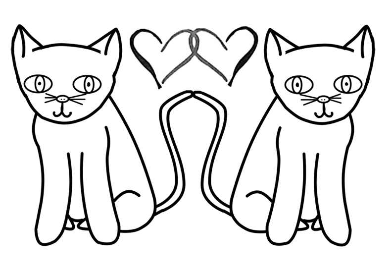 Two Cats In Love Coloring Pages Shrinkie Dink Ideas Pinterest Cats Coloring Pages
