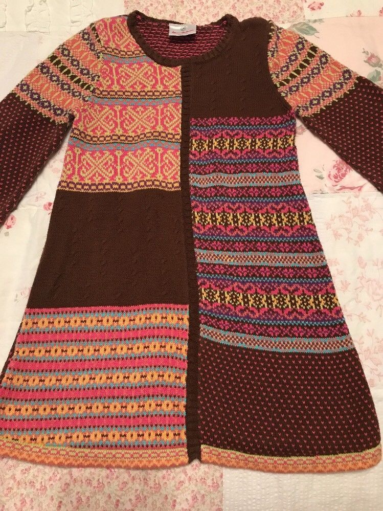 Hanna Andersson Girls Size 110, 5 Multi Color Fair Isle Sweater ...