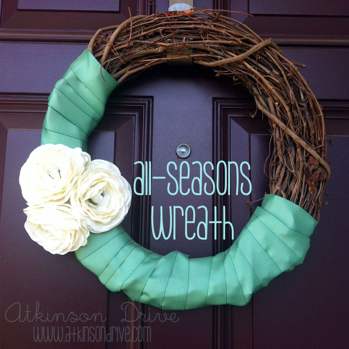 All-Seasons Front Door Wreath | Front door wreaths, Door wreaths ...