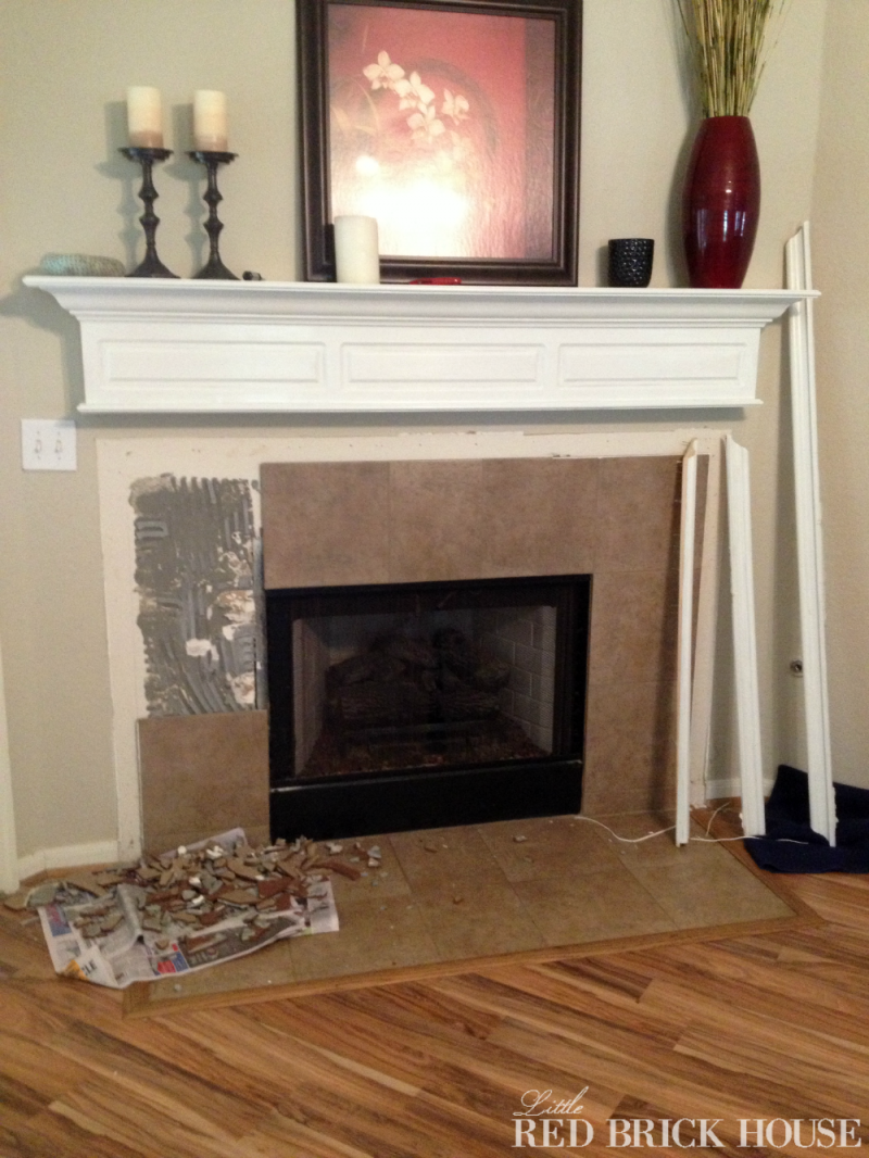 Photo of Fireplace Makeover: Demo & Pillar Construction | CYPRESS & SIENNA