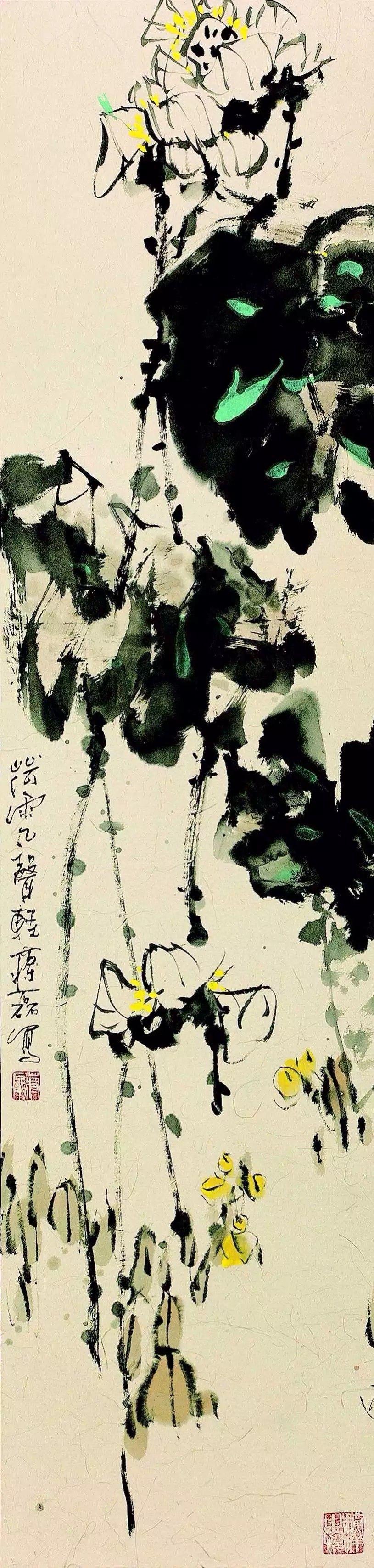 Chinese Painting Chinesische Malerei Plum Pflaumenblute Bamboo