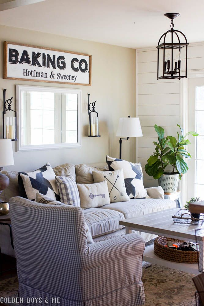 living room pottery barn%0A Pottery Barn quilt pillow covers in farmhouse style kitchen sitting room