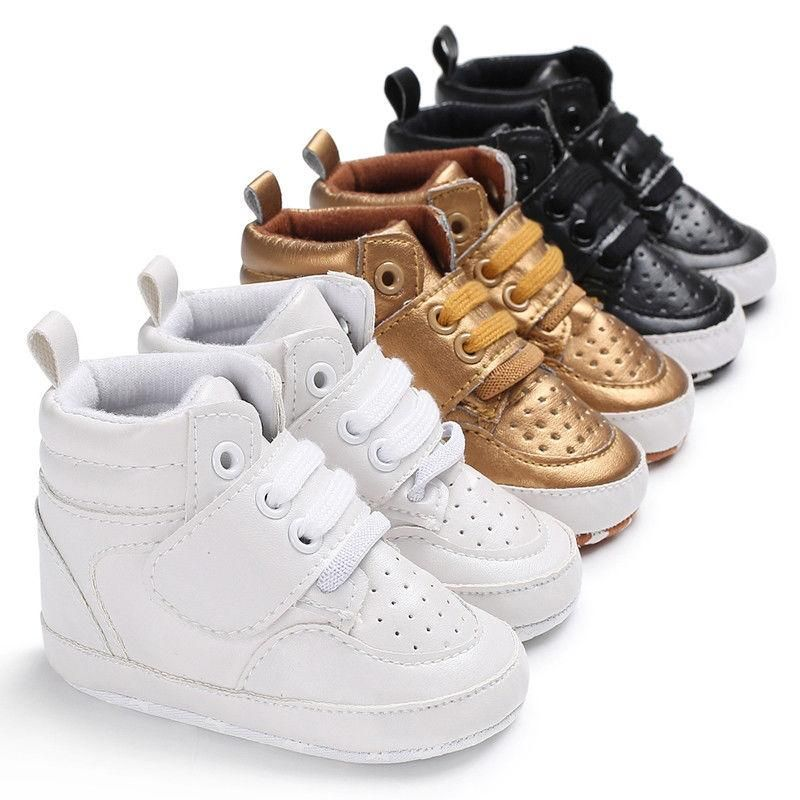 Newborn Baby Summer Crib Shoes Infant Boy Girl Soft Sole Lacing Sneakers Boots
