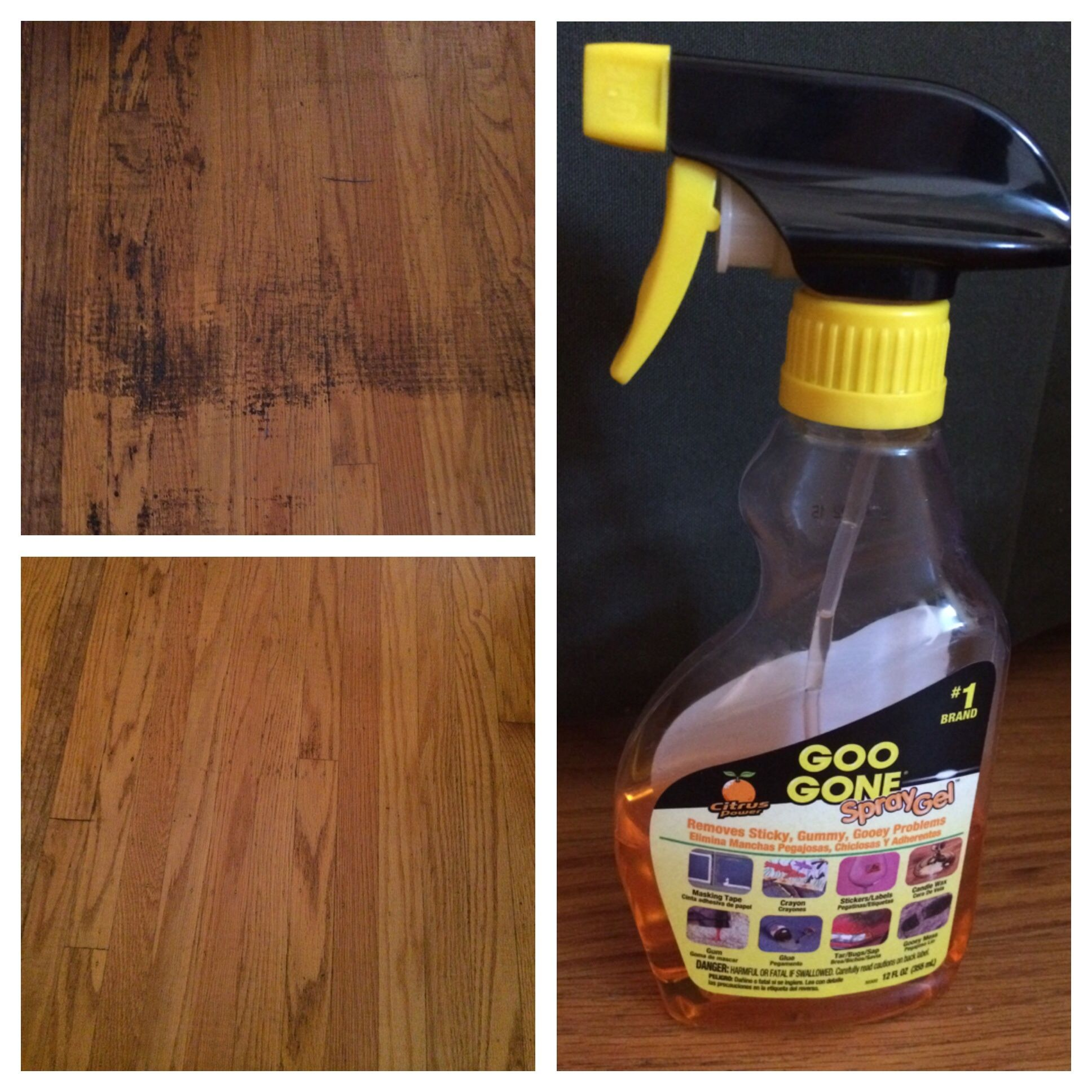 removing adhesive from wooden floor this stuff works great pinterest success. Black Bedroom Furniture Sets. Home Design Ideas