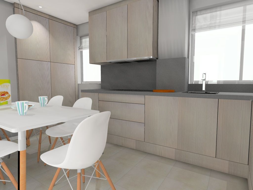 Ideas de #Cocina, estilo #Contemporaneo color #Beige, #Blanco, #Gris ...