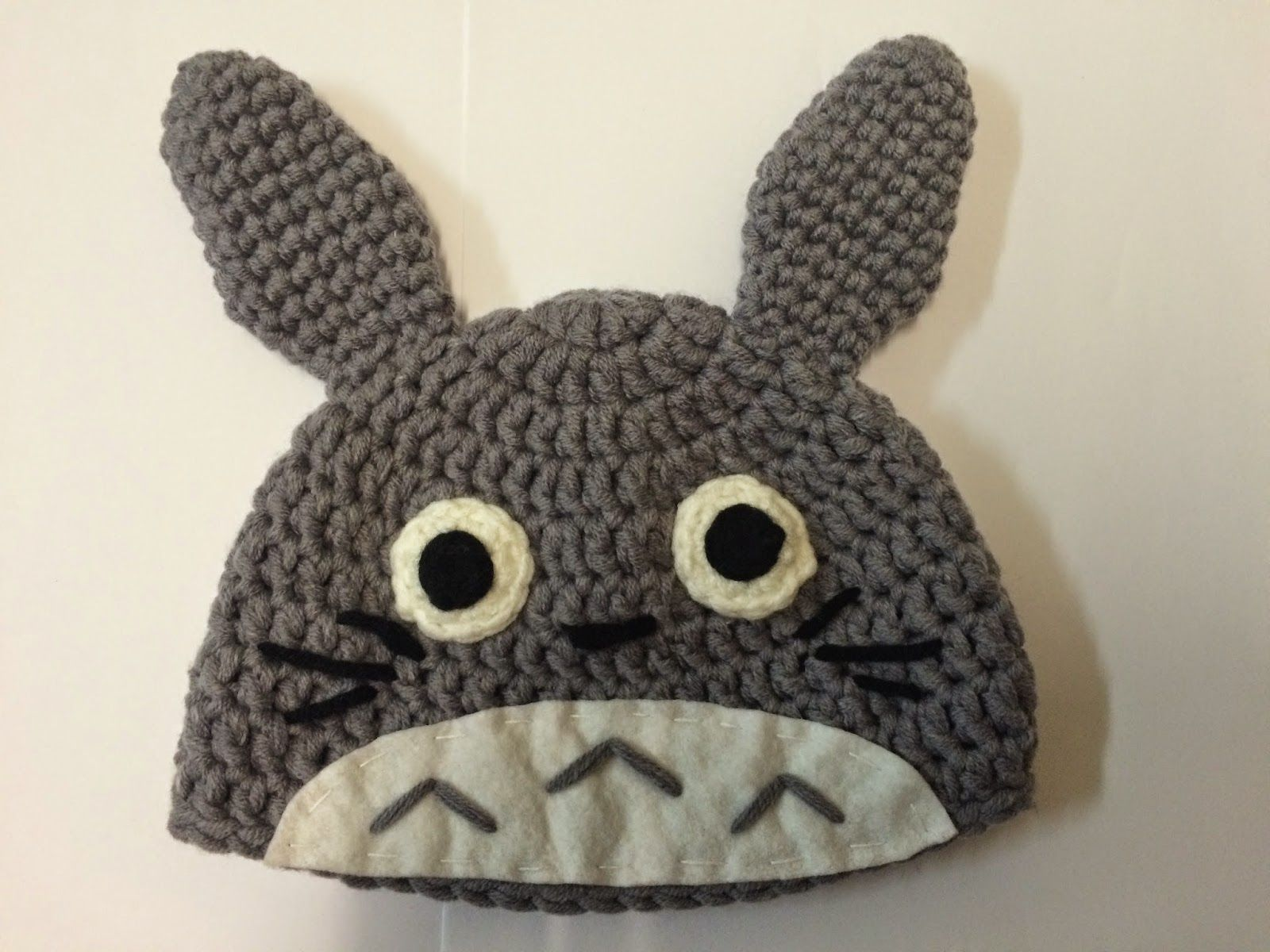 06efdbd0f7b Free Totoro Crochet beanie pattern and tutorial. Step by step pictures  included too!