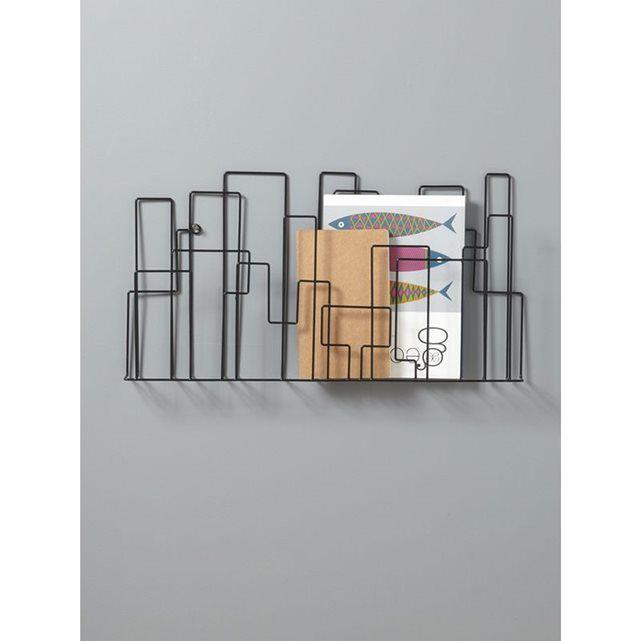 de style industriel ce porte revues mural est une solution de rangement facile et dcorative dtailsdim 52 x 30 cm profondeur 4 cm - Porte Revue Mural Metal
