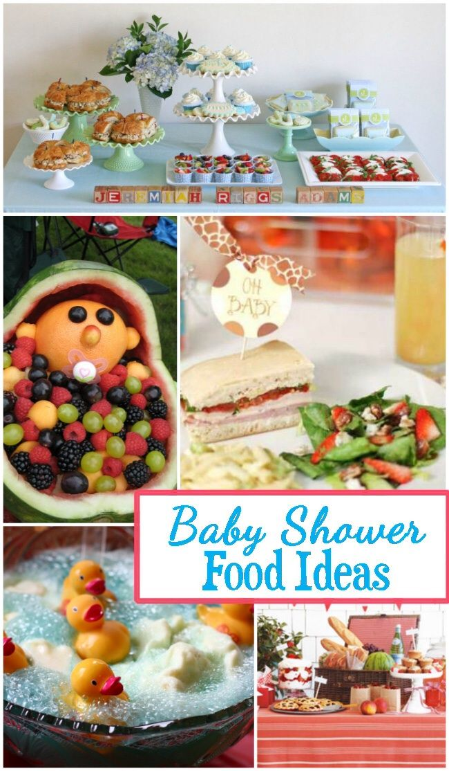 Baby Shower Food Table Ideas Baby Shower Ideas Pinterest