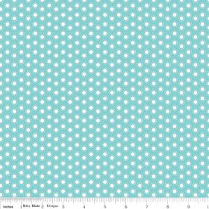 Carina Gardner Little Ark Dot in Aqua Aqua fabric