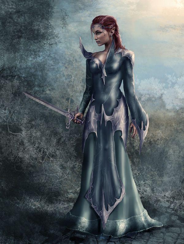 Leniana Queen Of The Nymphs High Elves Concept Fantasy