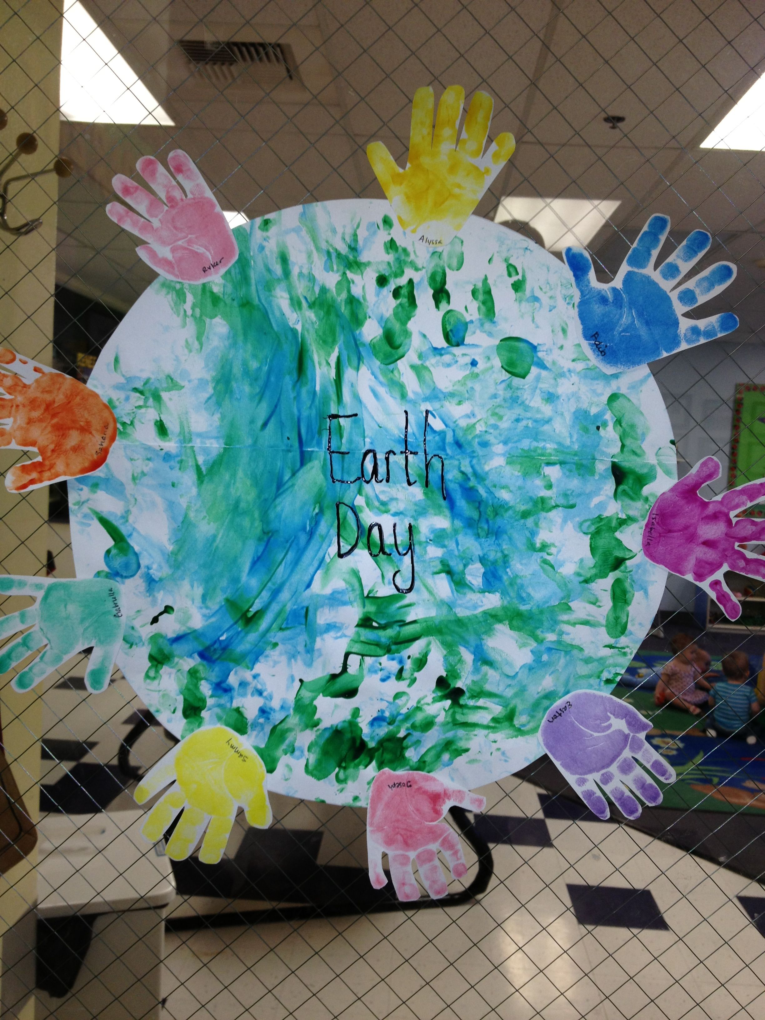 Earth Day Project With Infants Nger Paint The World