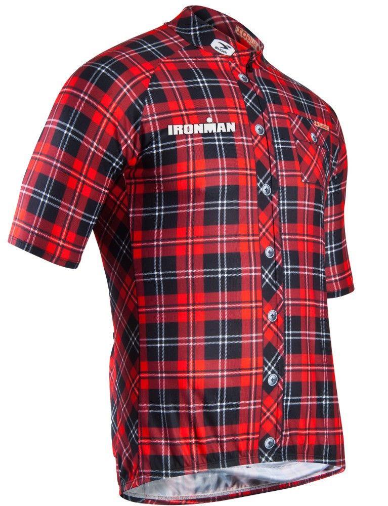 IRONMAN Official Merchandise    IRONMAN Men s Lumberjack Cycling Jersey 217c20dd5