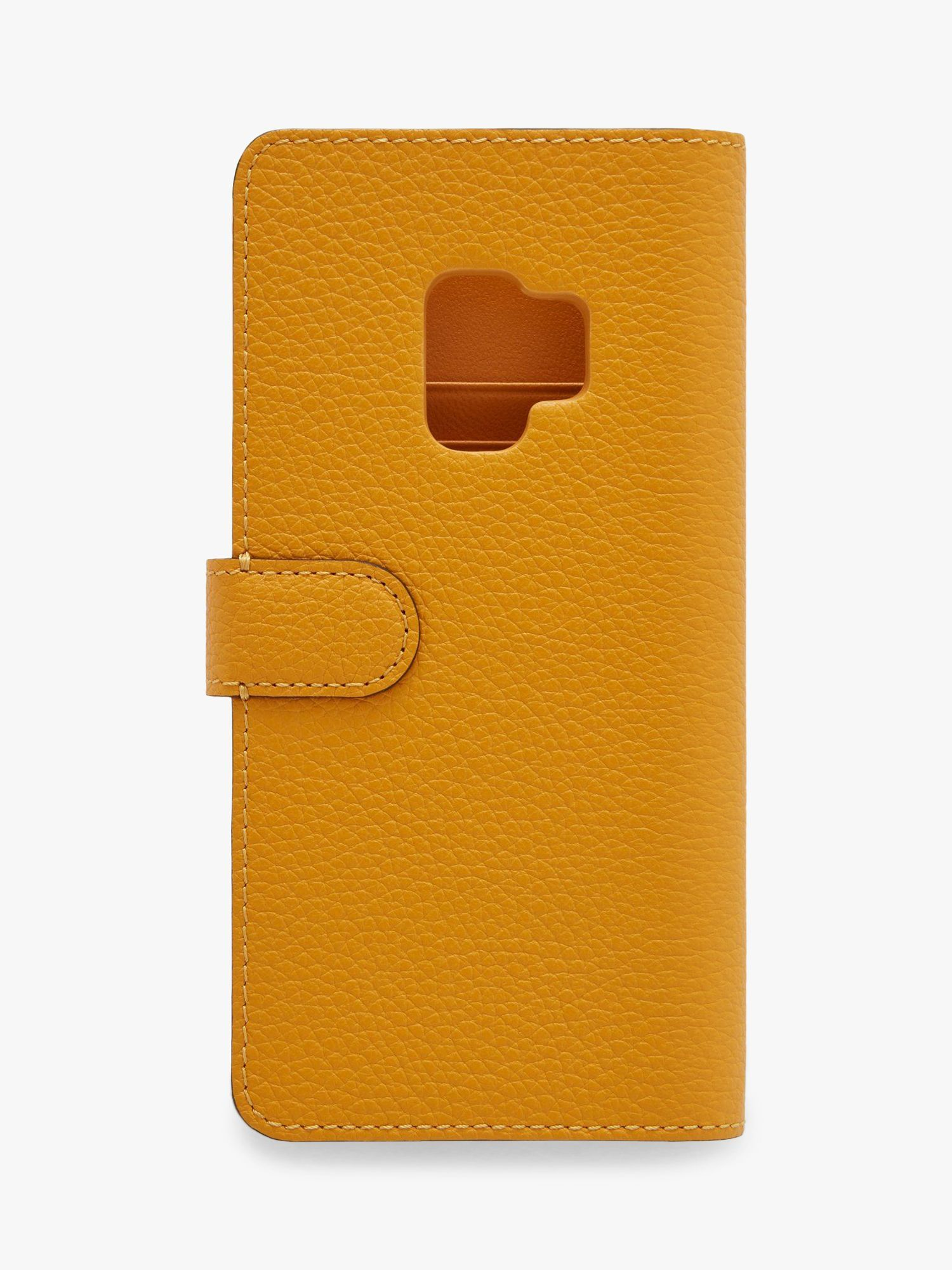 Mulberry Small Classic Grain Leather Samsung S9 Flip Case, Deep Amber