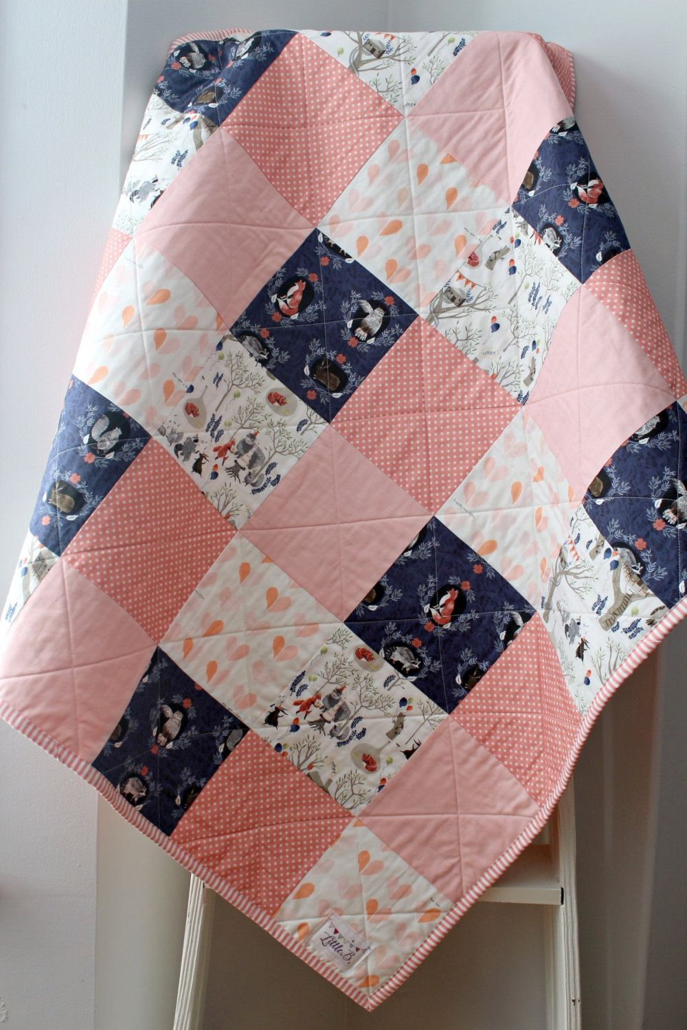 Homemade Quilts For Sale >> Homemade Quilts, Baby Quilt, Woodland Nursery Bedding ...