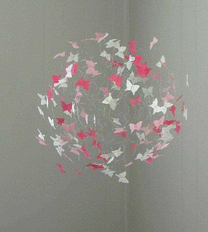 Kinderzimmer Wandgestaltung Selber Machen Maedchen: Schmetterlinge Aus Papier Schneiden, Falten Und Du Hast