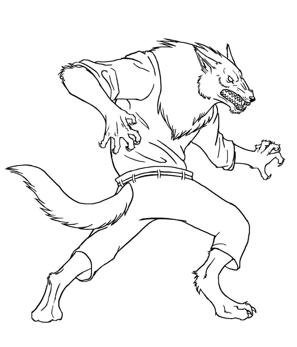 Werewolf Line Art By Pandadrake D30zv21 Jpg 1024 1198 Werewolf