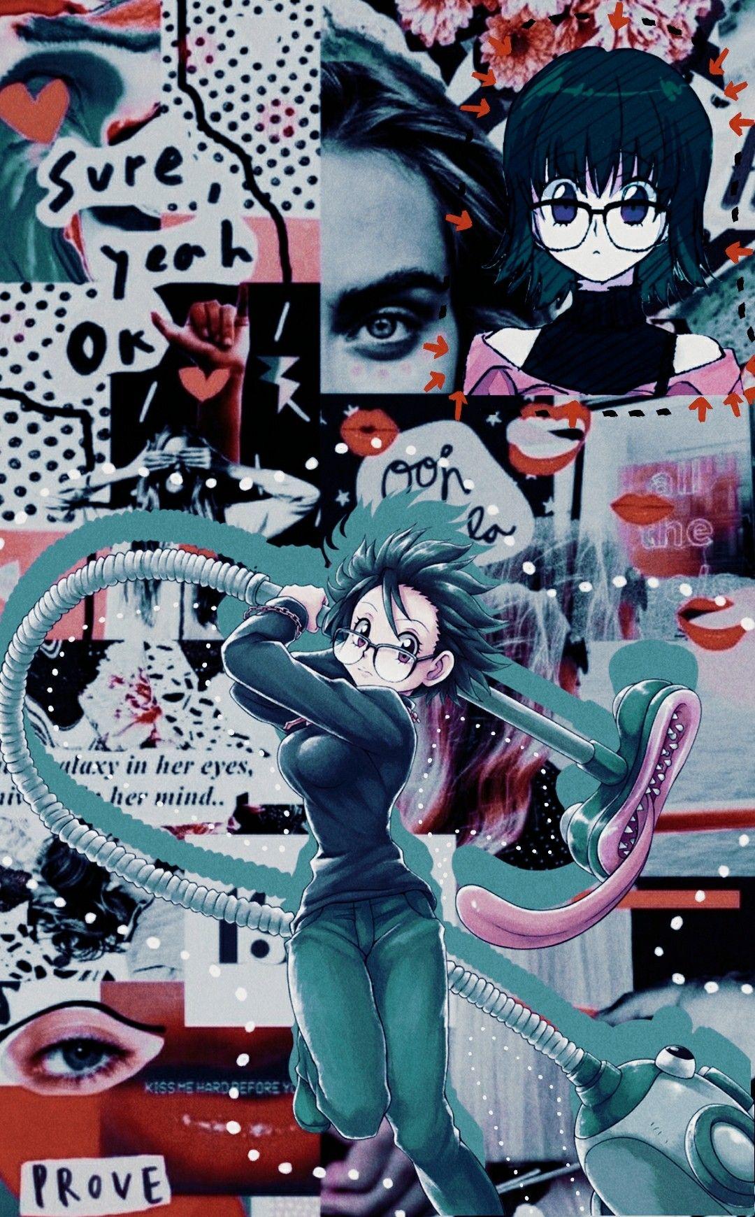 Shizuku Murasaki Collage Lockscreen Edit Hxh In 2020 Hunter Anime Anime Wallpaper Cute Anime Wallpaper