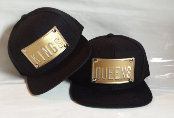 KINGS and QUEENS black snapback kings queens hat can custom any word king s  queen s king b queen b bdd9534ddaf