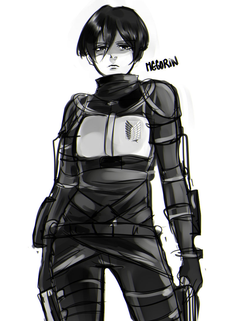 Drew a 19 year old Mikasa, she may not be my favorite but she looks cool!  Do not repost my artwork on instagram or any other socialmedia! thank you