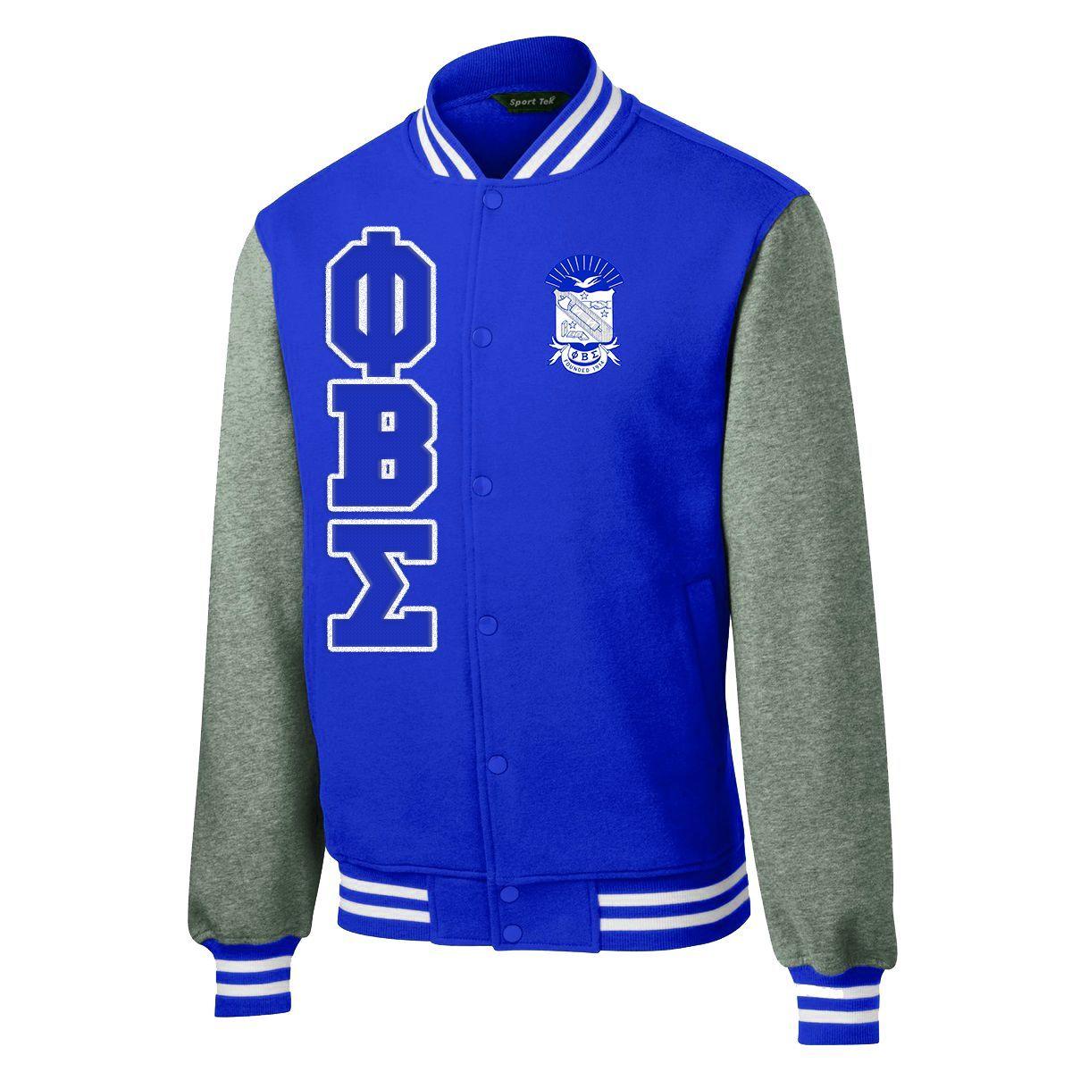 Phi beta sigma varsity fleece jacket fleece jackets pinterest