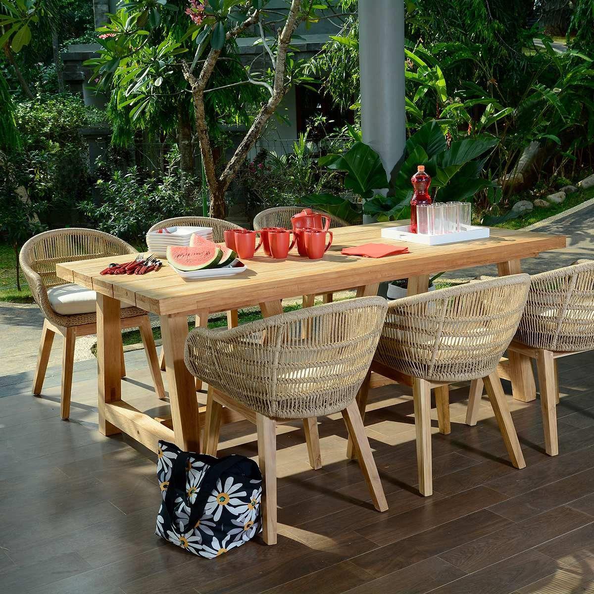 Salon De Jardin Chaumont 250 En Teck Effet Recycle Pas Cher Soldes Salon De Jardin Manomano Outdoor Furniture Sets Outdoor Tables Outdoor Furniture