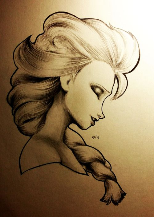 Elsa pencil sketch credit goes to artist like if elsa is your favorite character
