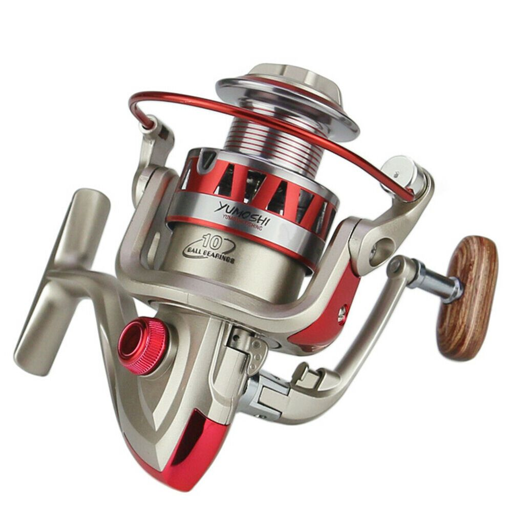 Freshwater Fishing Reel with line/&Hook 3BB Ball Bearings Spinning Fishing Reel