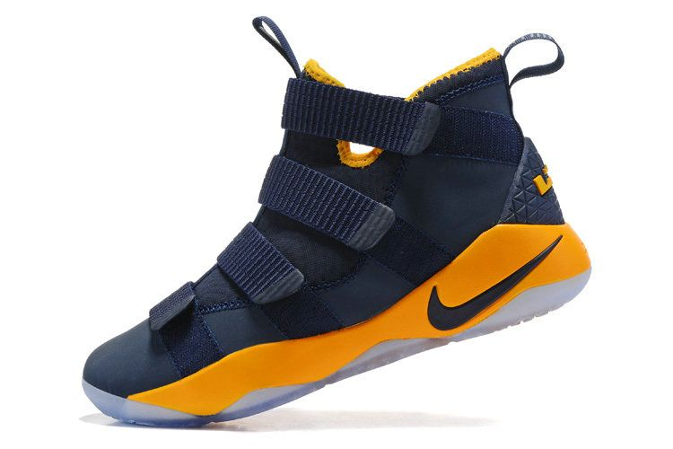 on sale fa007 0b2d2 Free Shipping Only 69  Lebron James Shoes 2017 Soldier 11 XI Midnight Navy  Gold