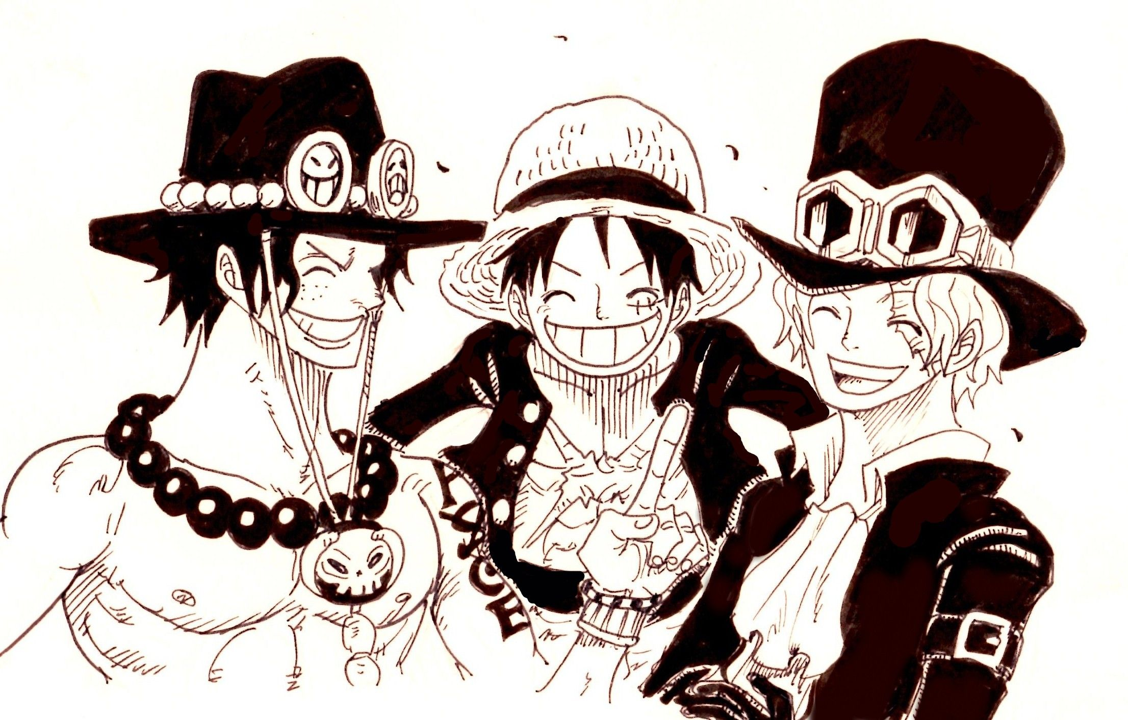 Monkey D Luffy Sabo Portgas D Ace One Piece Pinterest