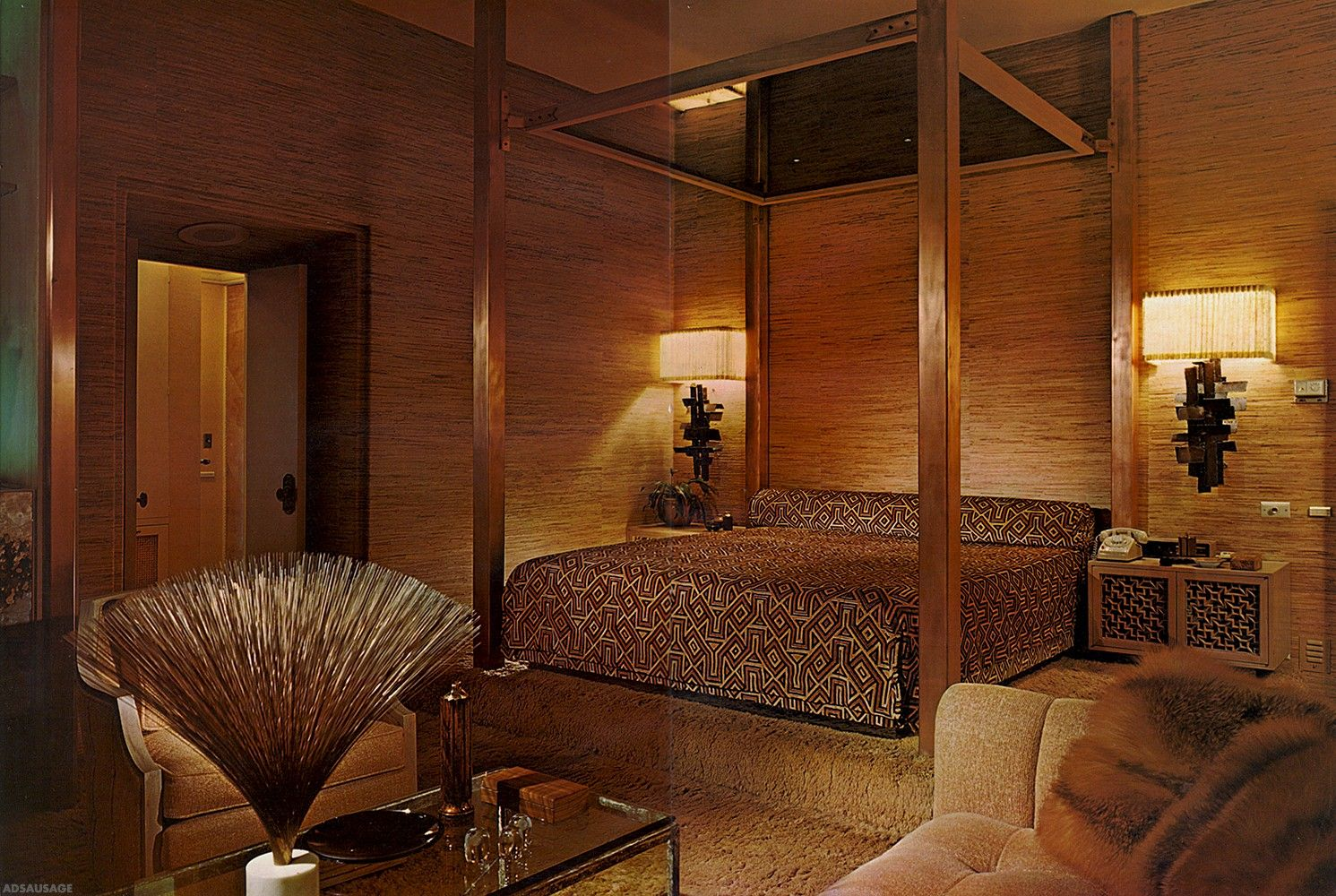 Design 19601970 Retro bedrooms, Mid century decor