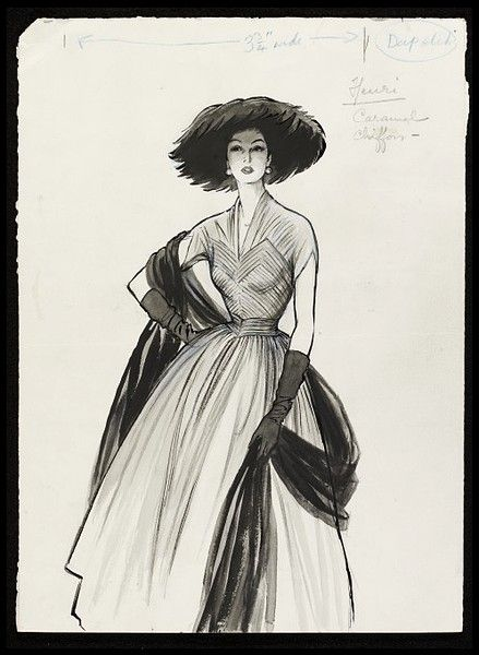 Photo of Fashion Drawing | Fromenti, Marcel | V&A Explore The Collections