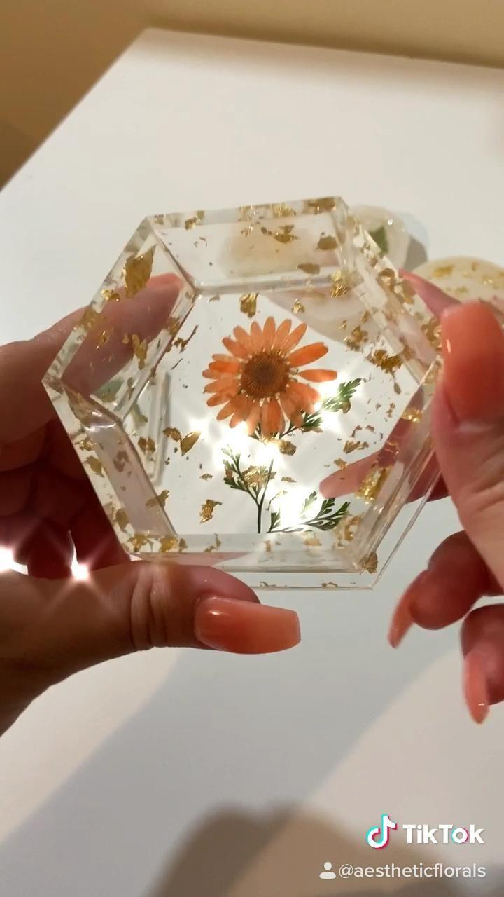 Resin Trinket Jewelry Box Beautifully crafted resi