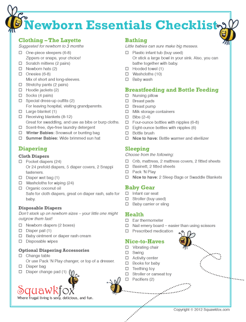 New Baby Checklist On Pinterest Baby Checklist Baby