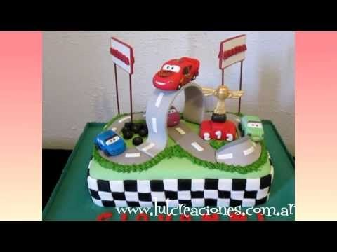 Torta Decorada Cars - Lut Creaciones Tortas Decoradas - YouTube