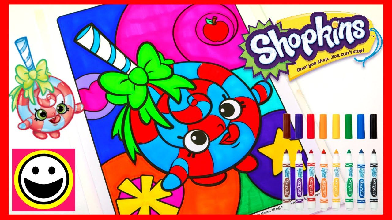 SHOPKINS Coloring Pages   LOLLI POPPINS   Crayola Coloring Book   Color.