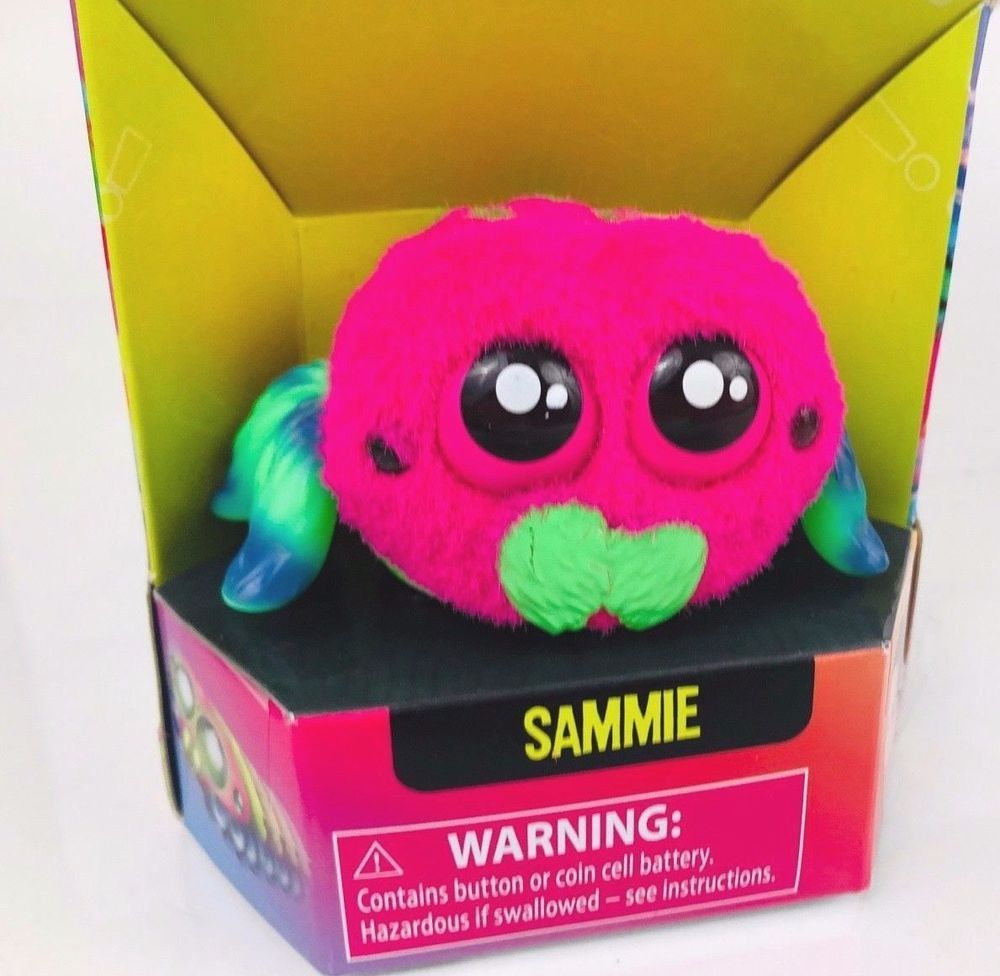 Hasbro Yellies Sammie Voice Activated Spider Pet Hot Pink Green Blue Nib Hasbro Hot Toys Pets Sammies