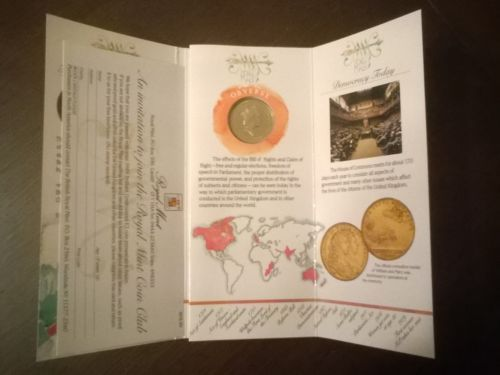 1989 #tercentenary bill of #rights #uncirculated £2 coin,  View more on the LINK: http://www.zeppy.io/product/gb/2/291723518685/