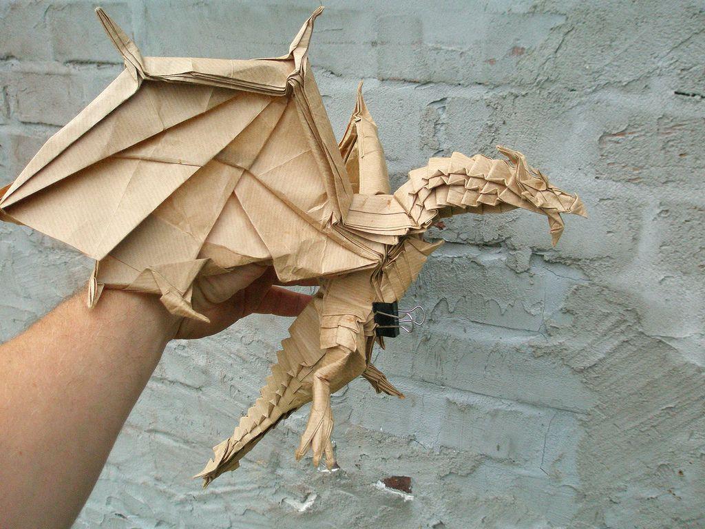 Origami Minotaur Satoshi Kamiya Pdf Tutorial Handmade Fearsome Ancient Dragon Designed By No Online Diagrams Test Fold Of The Alduin Folded Artur