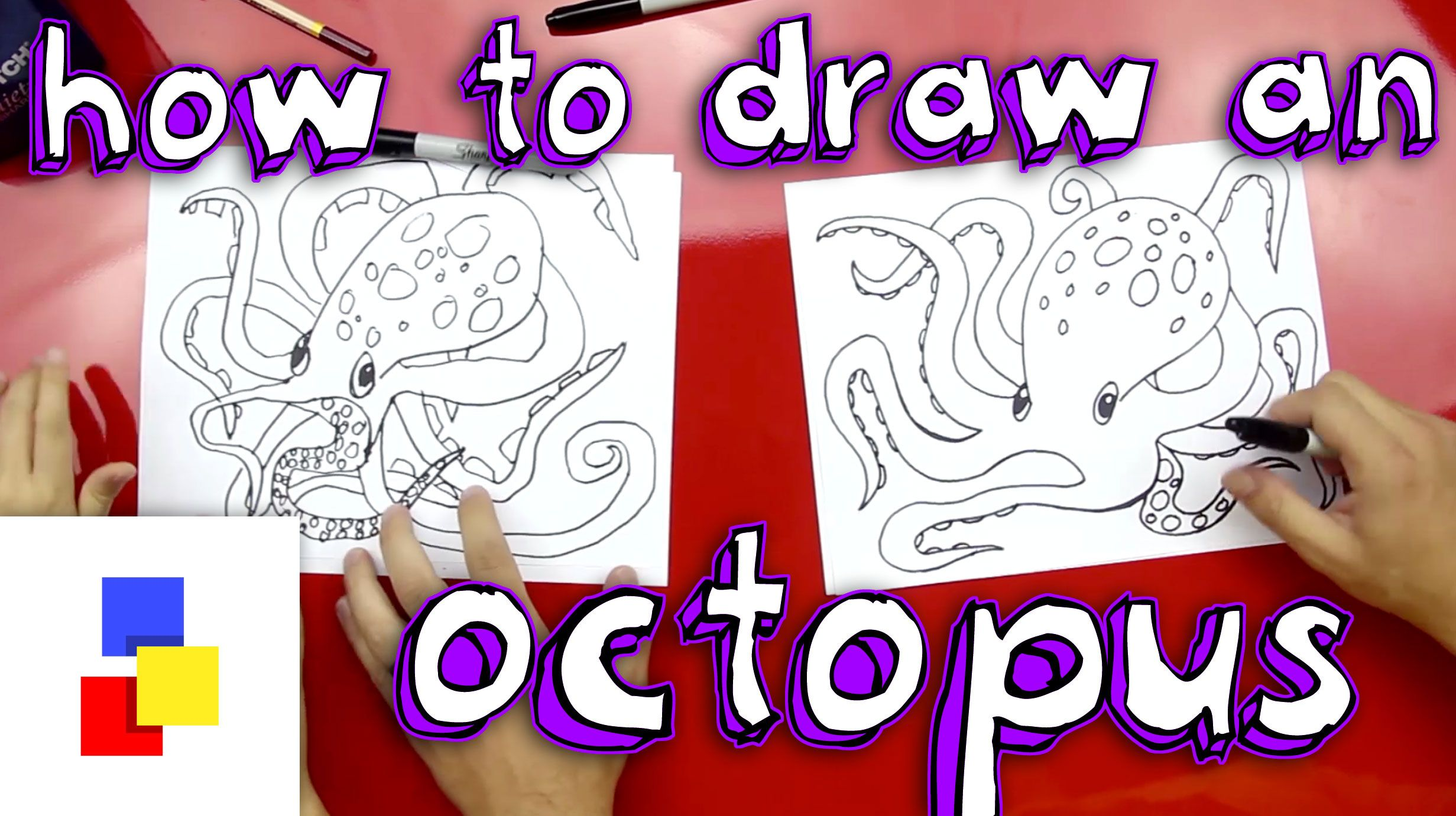 how to draw octopus legs