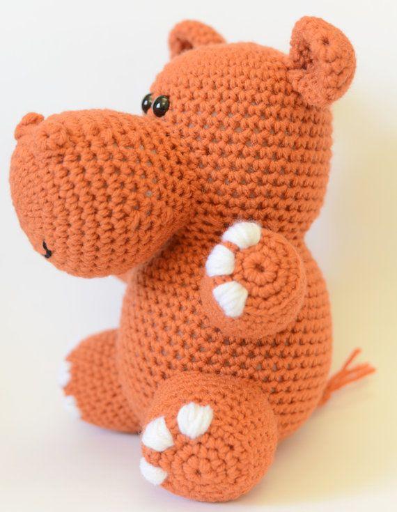 Crochet Hippo Pattern Crochet Stuffed Hippo Crochet Hippo